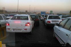 ترافیک ناشی از تصادف محور قرچک- ری