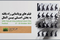 آثار پویانمایی بخش بین الملل جشنواره فیلم کوتاه تهران