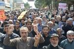نمازگزاران کرمانشاهی تظاهرات کردند/طنین فریاد«مرگ بر آمریکا»+عکس