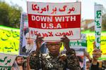 ایران میں نماز جمعہ کے بعد امریکی صدر کے خلاف مظاہرے