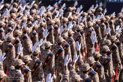 رژه نیروهای مسلح در همدان