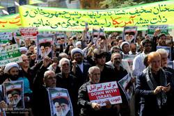 تظاهرات منددة بخطاب الرئيس الامريكي في المدن الايرانية