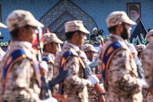 Military parade across Iran to mark Saddam invasion anniv.