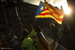 تظاهرات جدایی طلبان در بارسلونا