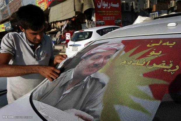Referandum hazırlığı yapan Erbil'den kareler