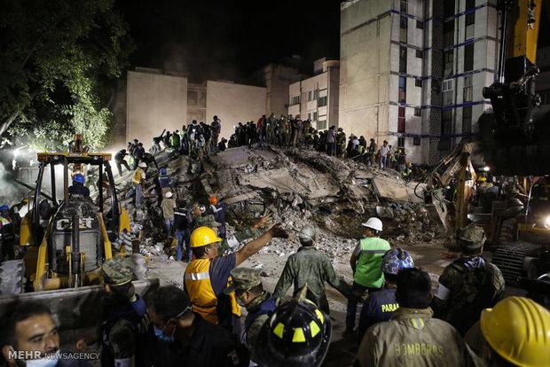 ادامه نجات زلزله زدگان از زیر آوار در مکزیک