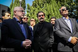 مراسم تشییع پیکر زنده یاد نادر گلچین در تالار وحدت