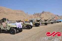 مایشگاه بزرگ دستاوردهای موشکی و توپخانهای سپاه پاسداران در کرمانشاه