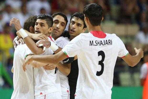 التصفيات الآسيوية للكرة الخماسية: ايران تهزم افغانستان بثمانية اهداف