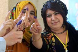 مشاهد من مشاركة الشعب الكردي في إستفتاء الإنفصال/صور