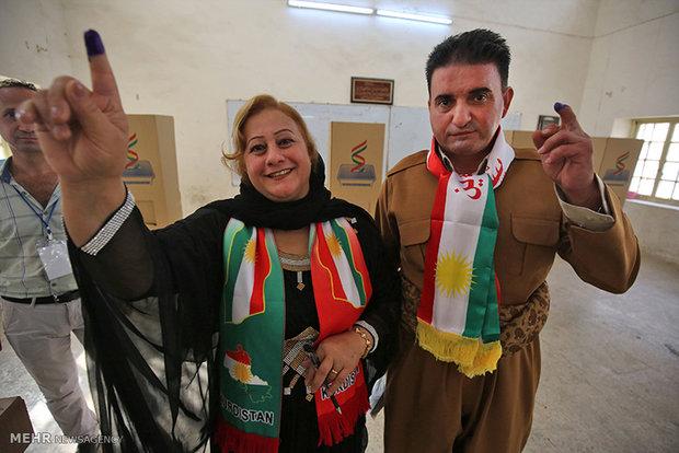 Irak Kürdistan Bölgesel Yönetimi'ndeki referandumdan kareler