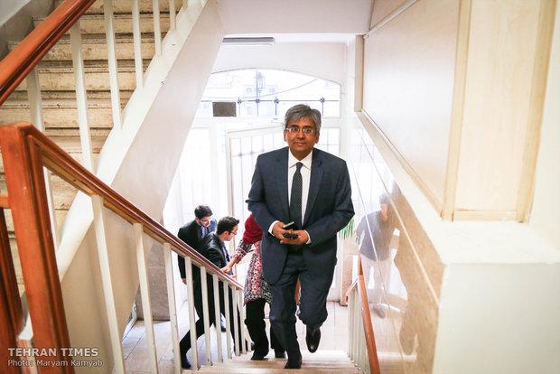 Indian envoy visits Tehran Times & Mehr News Agency