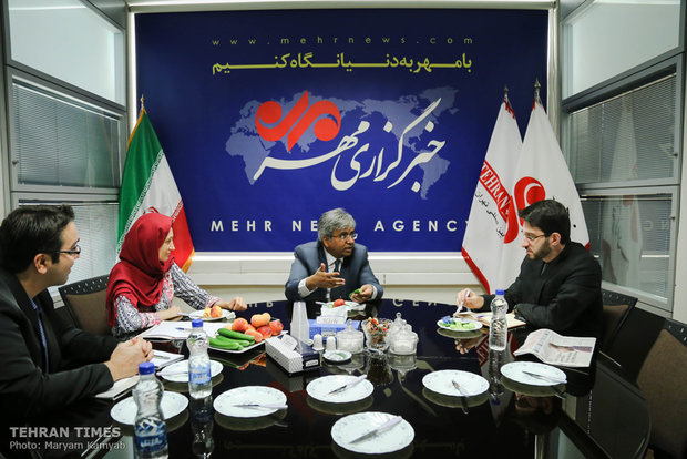 Indian envoy visits Tehran Times & Mehr News Agency