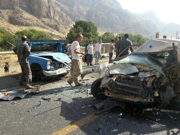 ۲ کشته و ۱۱ مجروح در حوادث رانندگی ۲۴ ساعت گذشته جاده ها