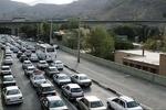 ترافیک نیمه سنگین درباند شمالی آزادراه تهران-کرج