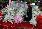 پیکر شهید حججی در میدان امام
