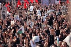 مراسم تشییع شهید محسن حججی در میدان امام حسین (ع)