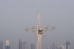 آزمایش نخستین تاکسی پرنده دنیا در دبی