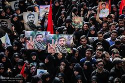 Şehit Mohsen Hoceci için büyük cenaze töreni