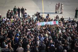 ورود پیکر شهید محسن حججی به فرودگاه اصفهان