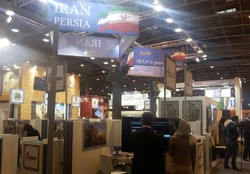 People visit Iran's pavilion at the 2017 IFTM Top Resa in Paris