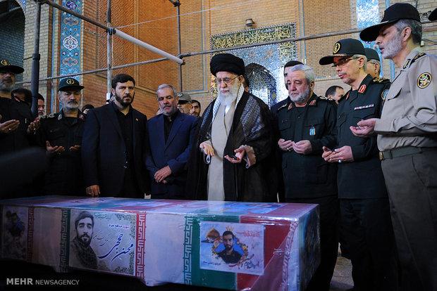 Ayat. Khamenei bids farewell to Mohsen Hojaji