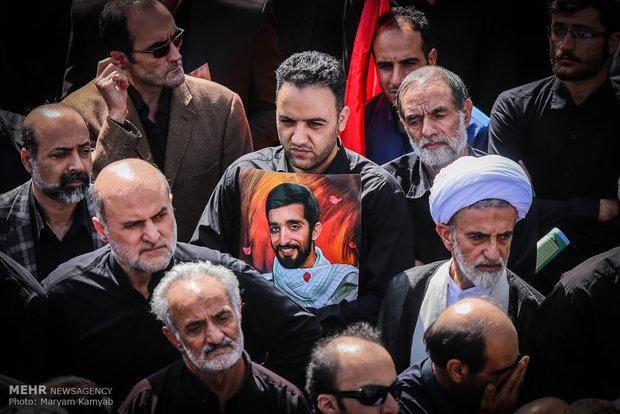 Iran bid farewell to fallen soldier