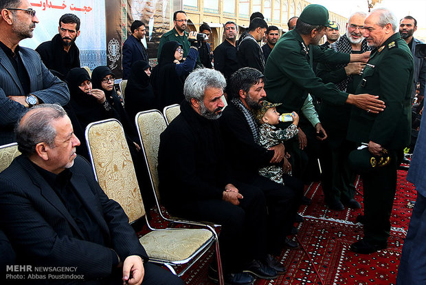 تشييع جثمان الشهيد حججي في أصفهان