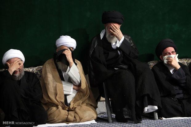 نخستین شب عزاداری حضرت اباعبدالله (ع) در حسینیه امام خمینی (ره)