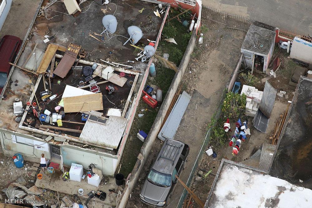 آوارگی مردم پورتوریکو بعد از طوفان ماریا