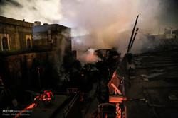 آتشسوزی در انبار چوب میدان سعیدی قم