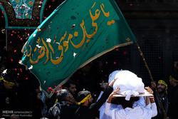 مراسم تشییع و خاکسپاری پیکر شهید حججی در نجف آباد اصفهان