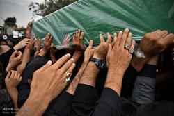 مراسم تشییع دو شهید مدافع حرم رضا سنجرانی و محمد رضا یزدانی