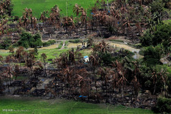 روستاهای به آتش کشیده شده در میانمار