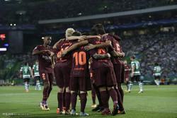 دیدار تیم های فوتبال بارسلونا و اسپورتینگ