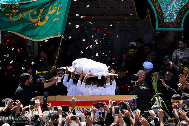 Burial ceremony of Iranian Martyr Hojaji