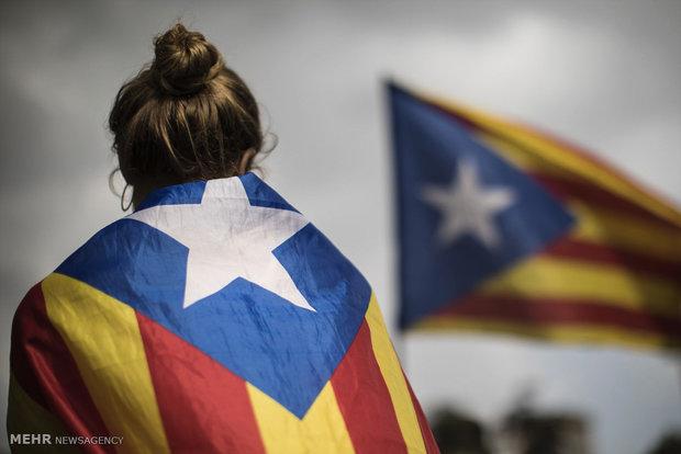 تظاهرات جدایی طلبان در اسپانیا