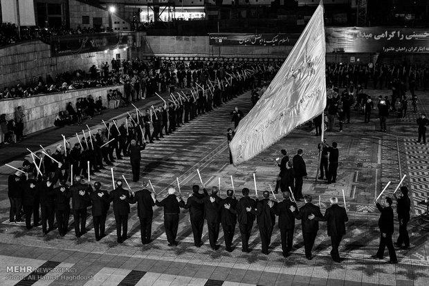 مراسم شاه حسين (شاخسي) للعزاء الحسيني في مدينة تبريز
