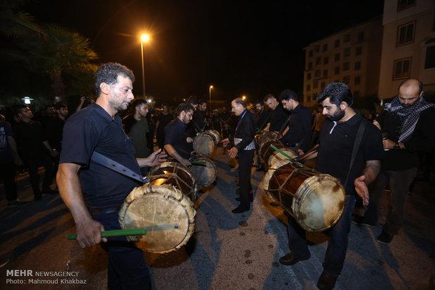 مراسم سوگواری شب تاسوعا در جزیره کیش