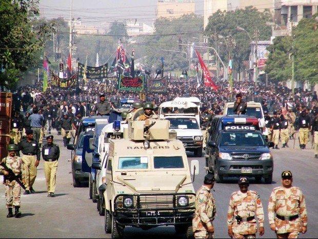 پاکستان بھر میں محرم الحرام کی نویں تاریخ کے جلوس مذہبی عقیدت کے ساتھ برآمد