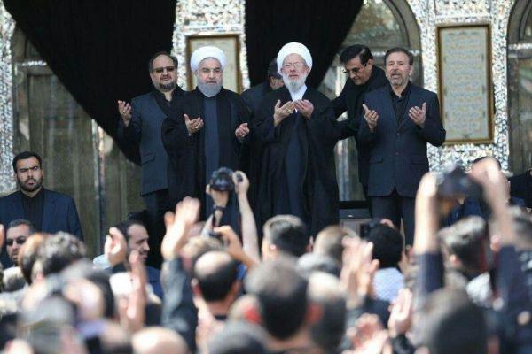 الرئيس روحاني يشارك في مراسم عاشوراء في مرقد عبد العظيم الحسني (ع)