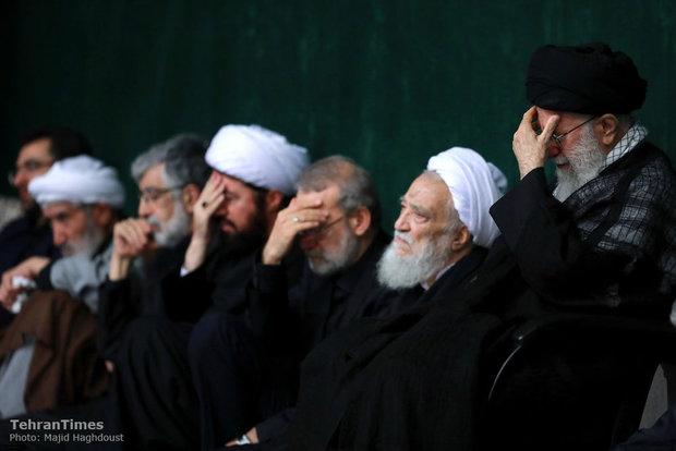 Ayatollah Khamenei attends a Muharram mourning ceremony on the night of Ashura