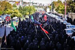 دسته عزاداری دانشگاه امام صادق (ع) در روز عاشورا