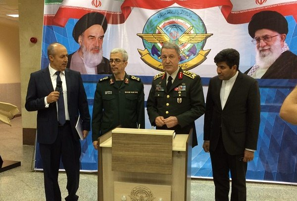 Iran, Turkey to step up military coop.