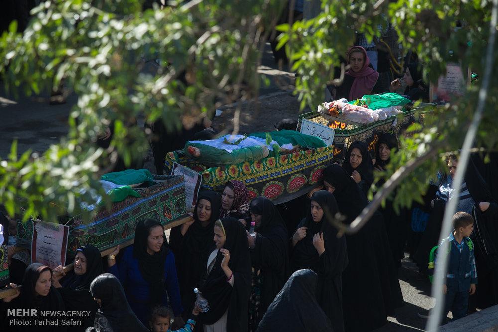 مراسم نمادین خا پاری ی کربلا در قزوین