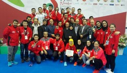 Iran's wushu outfit finishes vice-champion overall