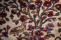 Tahran'da bahçe desenli halı fuarı