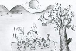 نقاشی دختر افغانستانی