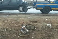 تصادف دوچرخه سوار ایران در جاده - ژاله
