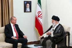دیدار رجب طیب اردوغان رئیس جمهور ترکیه با رهبر انقلاب اسلامی